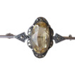 Beautiful, STAMPED ENGLAND, Silver Lemon Citrine & Marcasite Pin