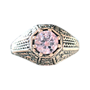 Lovely Victorian Pink Amethyst, Rose de France, Ladies Ring