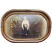 Edwardian Gesso Framed, Convex Glass Photograph