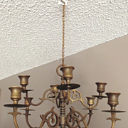 REDUCED Lovely Solid Brass, Hanging Candelabra **Reduced til the end of May.
