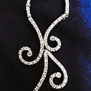 Designer Signed, Diamond Sterling Necklace