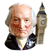 John Doulton Character Face Mug, Eight O'Clock Handle
