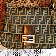 SALE Stylish, Designer, FENDI MaMa Forever, Large Letter, Signature Handbag