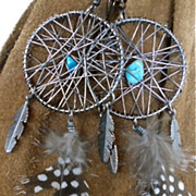 Native American Dream Catcher & Feather Earrings *Free Shipping!