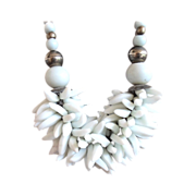 Hot Fun in the Summertime!  Tropical Milkglass Necklace