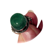 Mystical and Lovely, Green Chrysoprase Ring