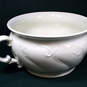 Old Victorian Chamber Pot by W. Adams & Sons, Staffordshire England, 1819 - 1864