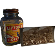 REDUCED Lipton Coffee Jar and Stereoview card