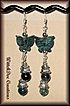 Fancy Jasper Butterfly and Moss Agate Dangle Earrings