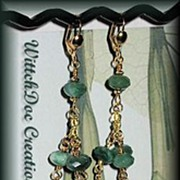 SALE Grossular Garnet and Peruvian Green Opal Duster Chandelier Earrings