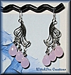 Faceted Pink Chalcedony Sterling Silver Earrings