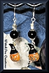 Halloween!!  Enameled Pumpkins with Tourmaline Earrings