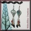 SALE Rainbow Hearts! Tourmaline and Fluorite Hearts Earrings