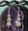Rose Quartz Triple Goddess Earrings