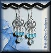 Blue Topaz and Aquamarine Chandelier Earrings in Sterling Silver
