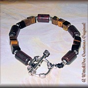 SALE Tiger Iron and Tiger's Eye Bracelet  8 inches