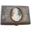 Wonderful Georgian Box with Oval Portrait in Center