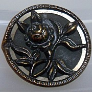 Button Two Piece Brass Coated of Flower
