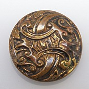 Button Brass Coated Two Piece Swirls