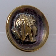 Button Two piece Brass Coated Egyptian Queen