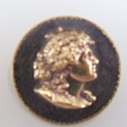 Button Tiny Button of Classical Lady's Head