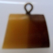 Two Tone Plastic Purse Shaped Button