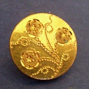 Button gilt with floral spray