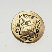 """King Kard"" Brass Button"