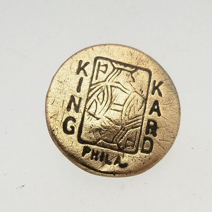&quot;King Kard&quot; Brass Button