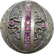 Extra Large Victorian  Jeweled Cloak Button