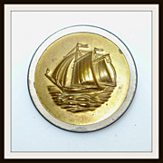 Two Piece Large Sailing Ship Button