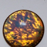 Button Diminutive Opalescent Glass Button