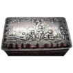 Continental Silver Scenic  Box depicting Lively Village Life