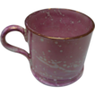 Child's Mug Staffordshire Pink Spatter with Copper Luster