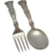 Gorham Sterling Child's Fork and Spoon