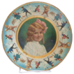 Adorable children's tin plate with girl in center
