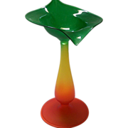 Blown Glass Brilliant Colored Vase