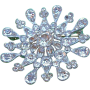 Rhinestone Brooch of Sparkling Open Design