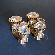 Showy Rhinestone Clip on Earrings