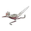 Silver  Metal Figural Road Runner Brooch