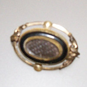 Victorian Mourning Hair Brooch