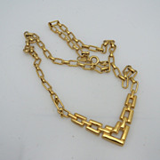 Avon Gold Metal Chain Necklace