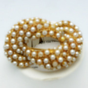 Imitation Pearl Swirled Brooch