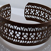 Bronze Color  Slip On Bracelet