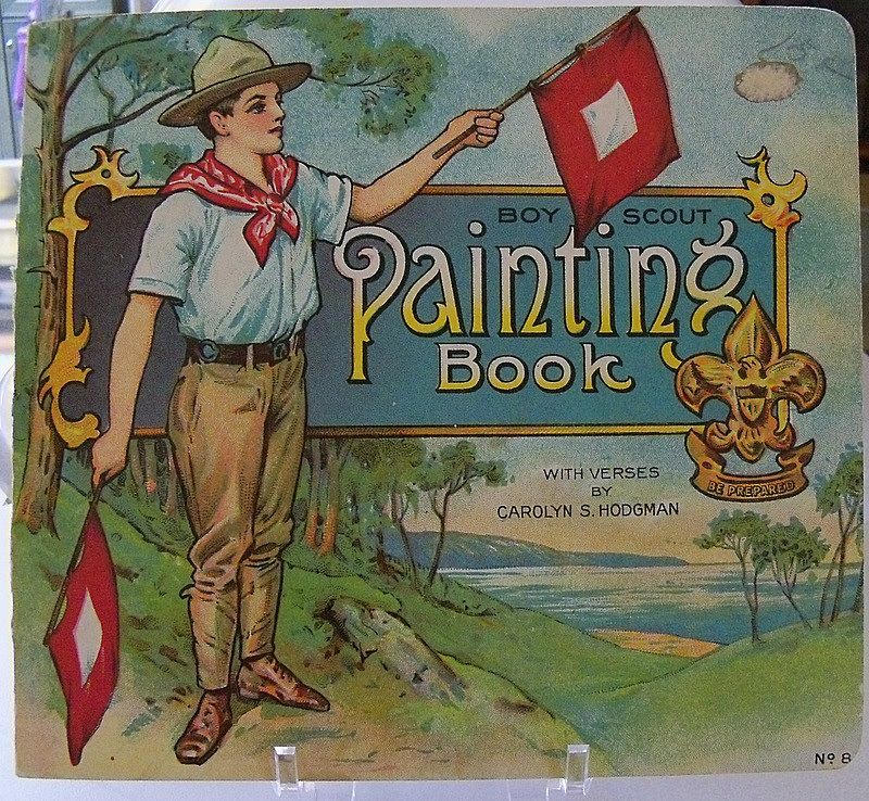 Wonderful Boy Scout Painting Book  Pre WWI