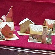Collection of Eight  Mica Putz Houses