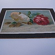 Heavy Cardboard Stock with Picture of Rose, Purse and Gold Coins
