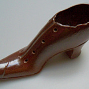 Brown Ladies Shoe Sewer Tile