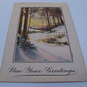 New Years Greeting Postcard 1919
