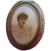 Hand Colored Photo of Lady in Dore Bronze Frame